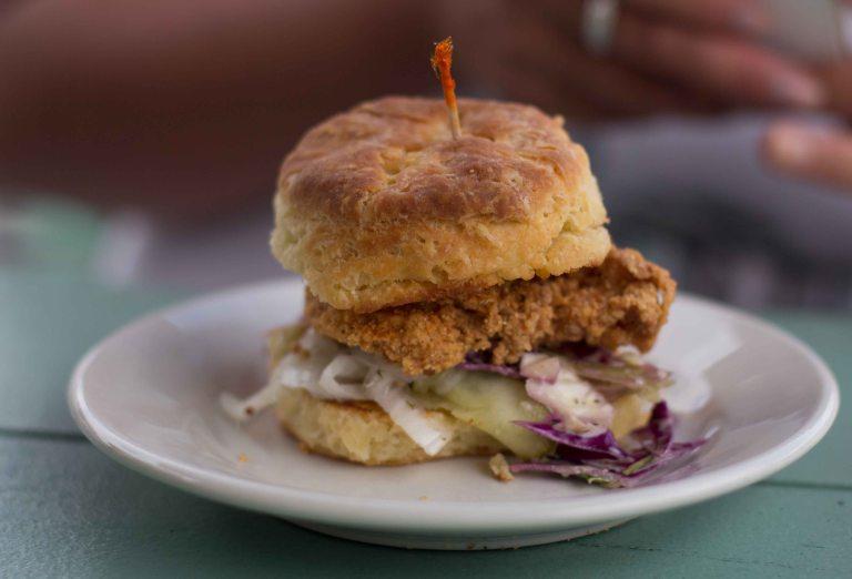 """""""Fremont Diner Napa Sonoma chicken biscuit"""""""