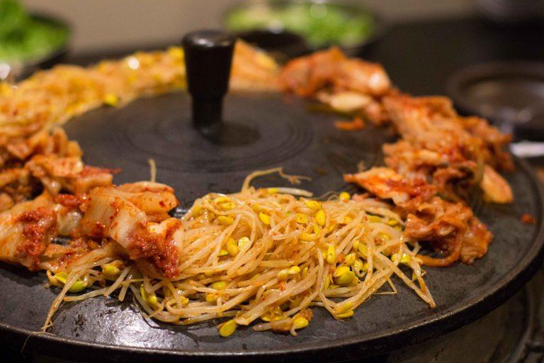 """Honey Pig LA K-Town Koreatown bbq kimchee"""
