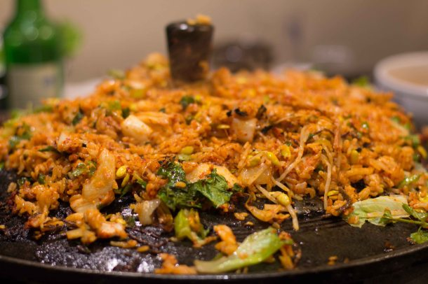 """Honey Pig LA K-Town Koreatown fried rice"""