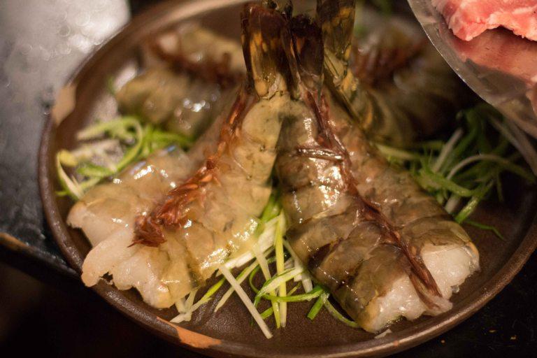 """Honey Pig LA K-Town Koreatown prawns"""