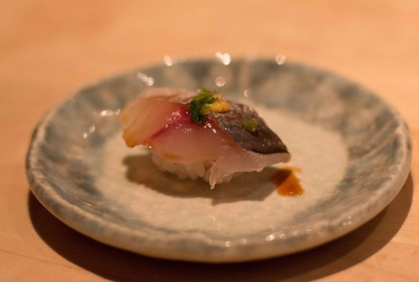 """Nozawa Bar LA Beverly Hills Aji Mackerel"""