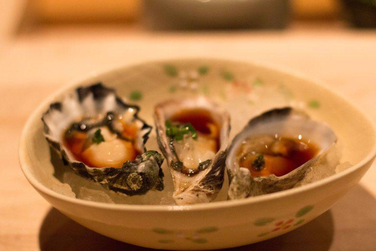 """Nozawa Bar LA Beverly Hills oysters"""
