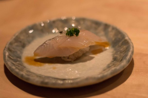 """Nozawa Bar LA Beverly Hills tachiuo belt fish"""