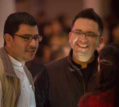Chef José Ramón Castillo (Que Bo!, Mexico DF) with Chef Rodolfo.