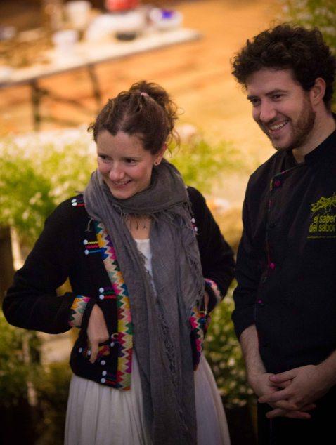 Chef Elena Reygadas (Rosetta, Mexico, D.F.) and Gerard Bellver (Biko, Mexico, D.F.)