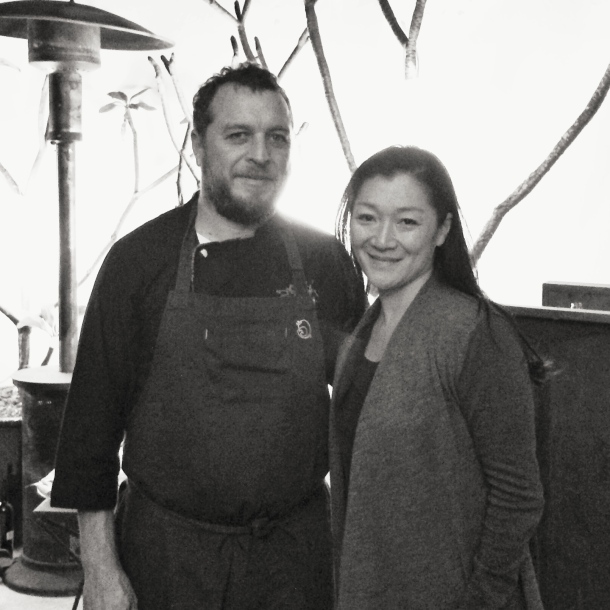 Looking a bit tired and overfed with Chef Tellez.