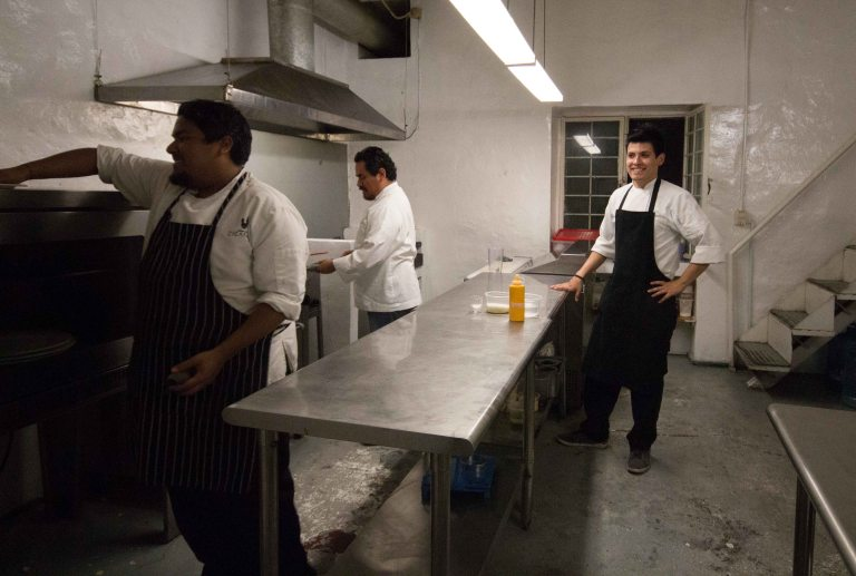 Chef Yiannis Rojas was cooking up a special meal for