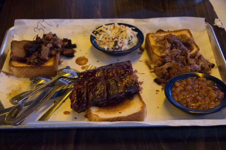 """Nashville Martins barbeque tray"""