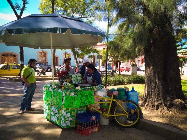 """""""Oaxaca Llano park taco consome"""""""