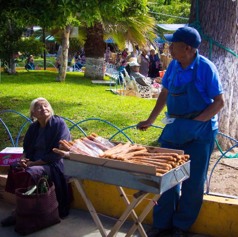 When you see a man selling churros, you have to stop.