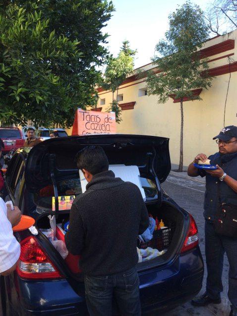 Oaxaca Tacos Cajuela car trunk