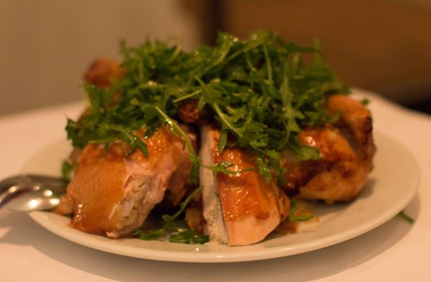"""SFO Zuni Cafe chicken"""