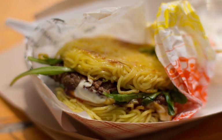 """Ramen Burger Keizo Shimamoto Smorgasburg"""