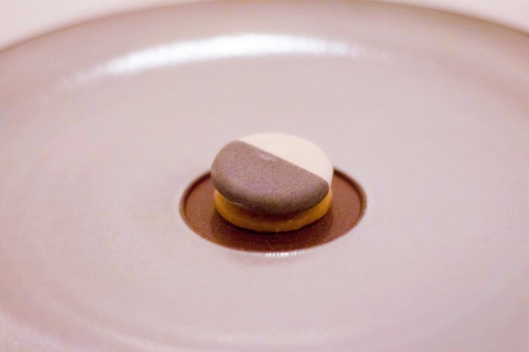 """Eleven Madison Park black white cookie cheddar"""