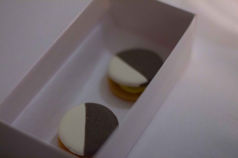 """Eleven Madison Park black white cookie"""