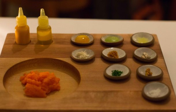 """Eleven Madison Park carrot tartare"""