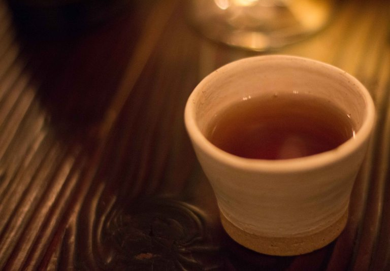 """Willows Inn birch tea"""