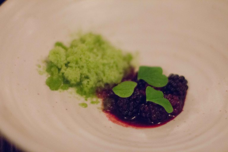 """Willows inn Lummi blackberries"""