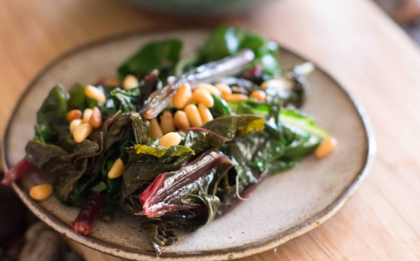 """Willows Inn Lummi breakfast chard"""