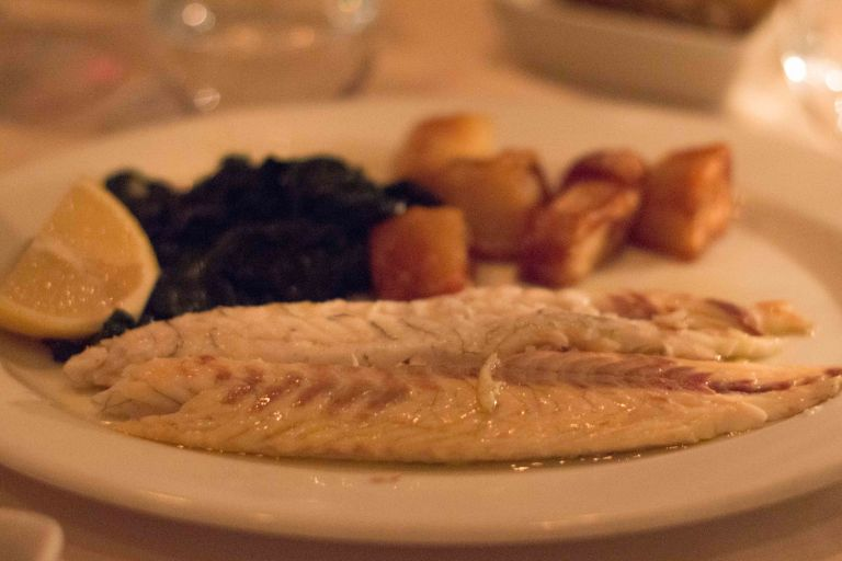 Simply grilled branzino is another off-menu but always on item.