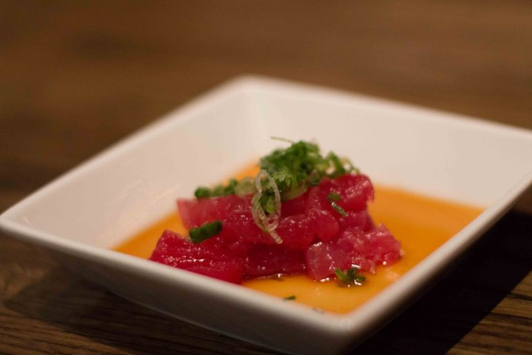 """Sugarfish Beverly Hills tuna sashimi """