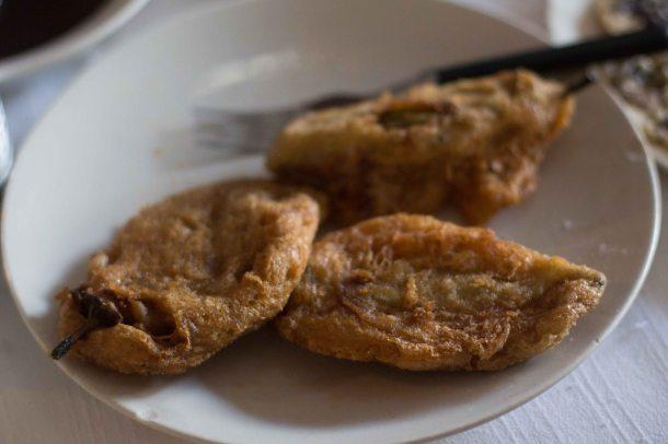 Oaxaca El Mangalito chile rellenos Zaachila