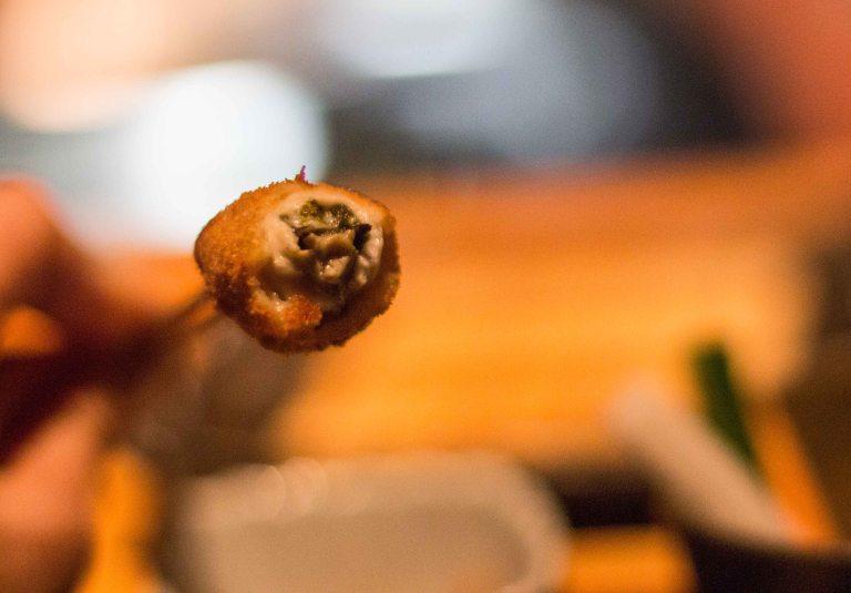 Kushi Tanaka Kyoto  oyster