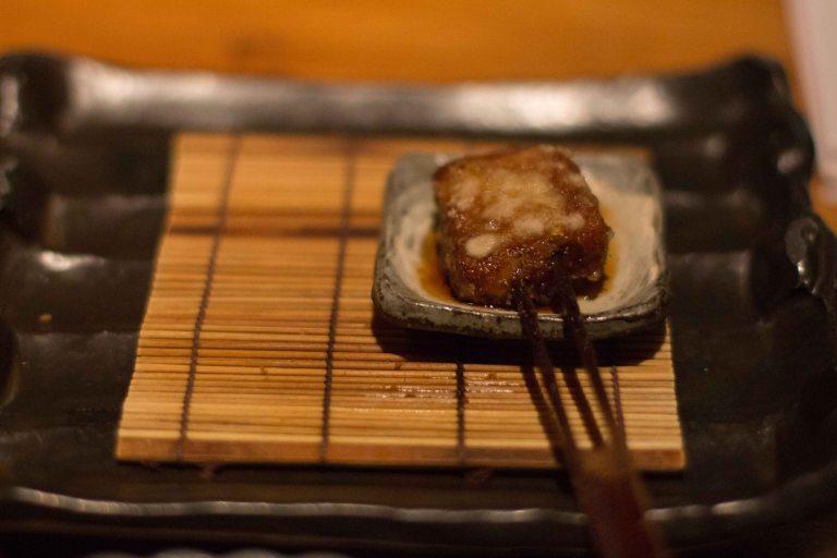 """Kushi Tanaka Kyoto pork belly butabara kushikatsu"""