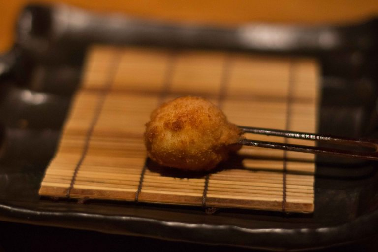 """Kushi Tanaka Kyoto quail egg"""