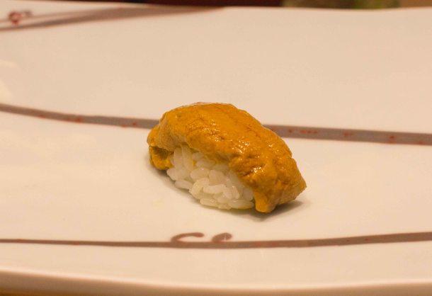 Kyubei Tokyo Ginza sushi sea urchin