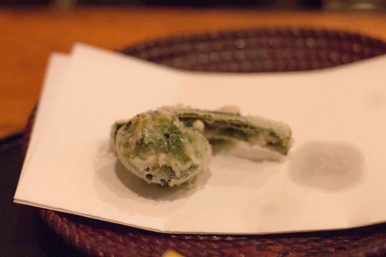 """tempura yoshikawa kyoto fiddlehead"""