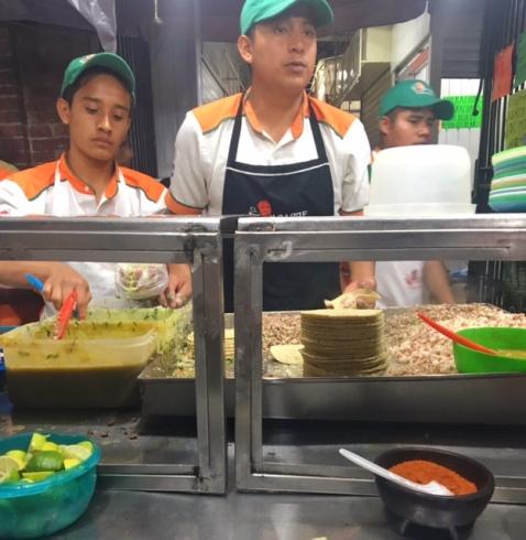 Oaxaca el compadre tacos cabeza