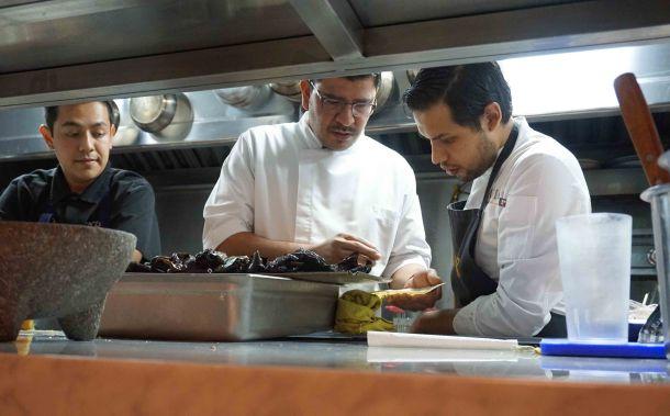 Rodolfo Castellanos Poleo kitchen staff