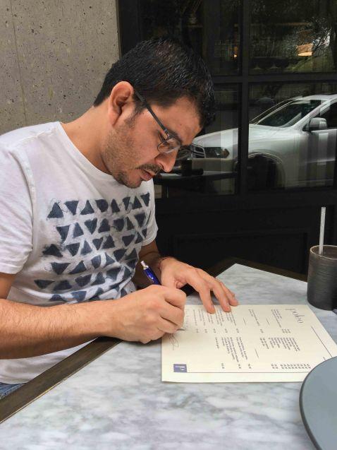 Rodolfo Castellanos Poleo menu