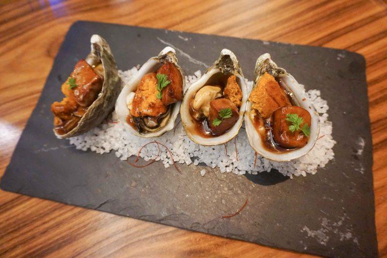 Morimoto Vegas oyster foie