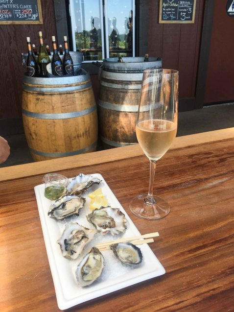 Iron Horse Sparkling oysters