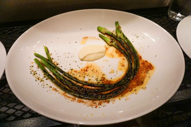 Burnt Ends Singapore garlic scape