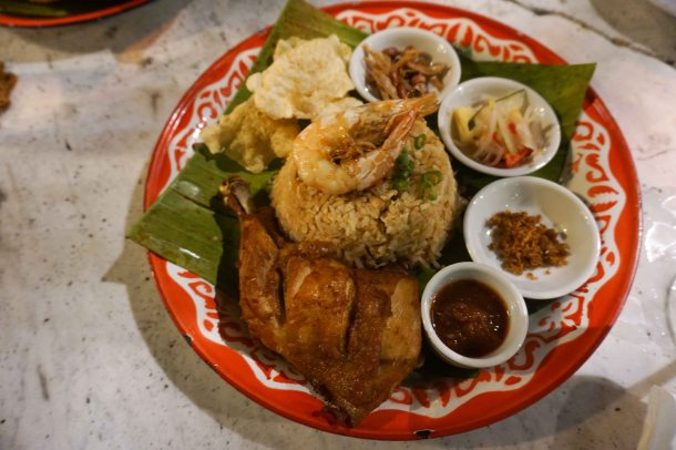 Muntri mews cafe nasi goreng fried chicken