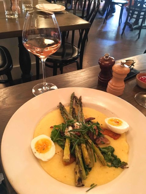 AOC Wine Bar asparagus polenta