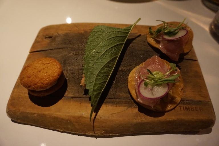 Juniper Ivy foie macaron tuna tostada
