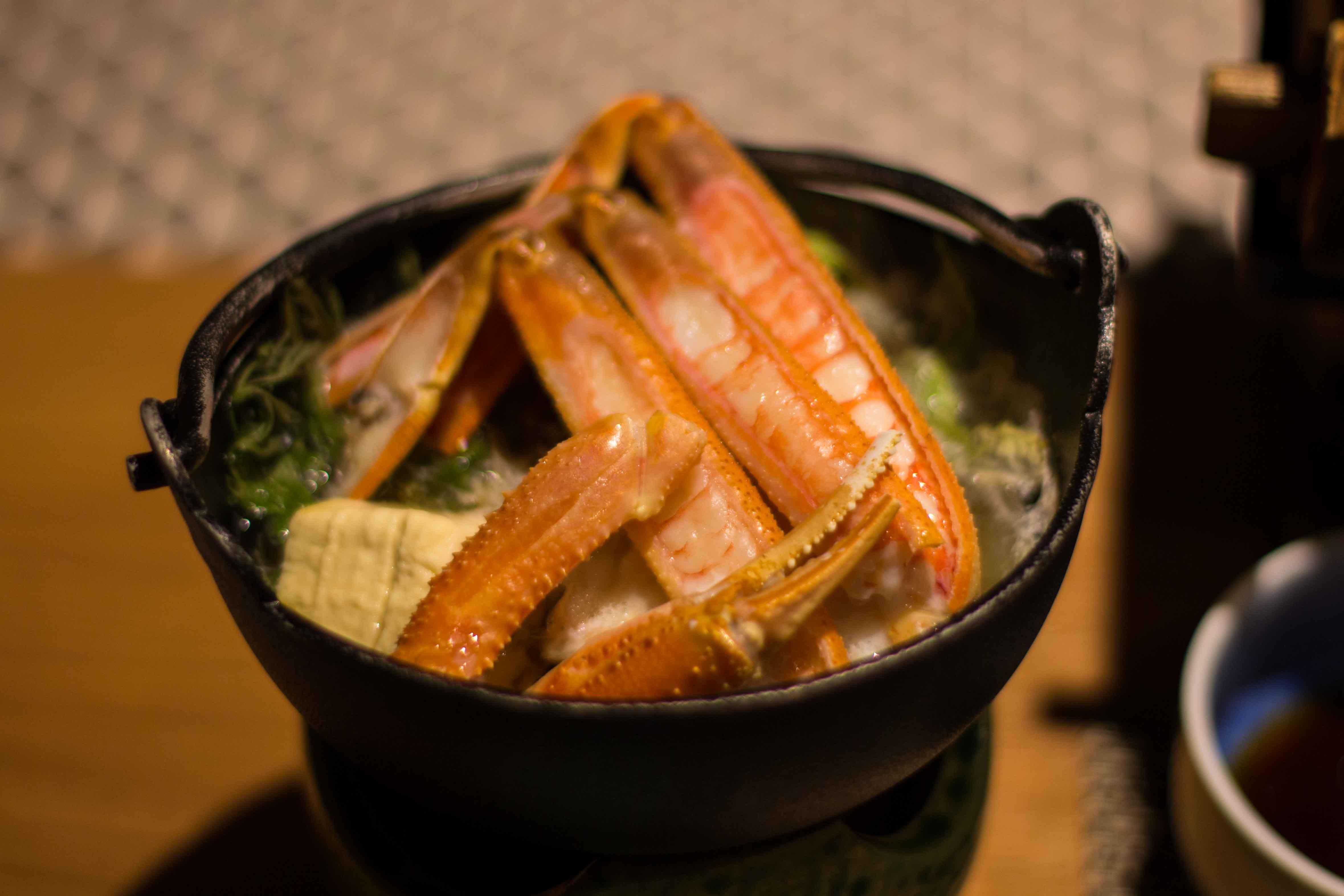 Kinosaki crab nabe