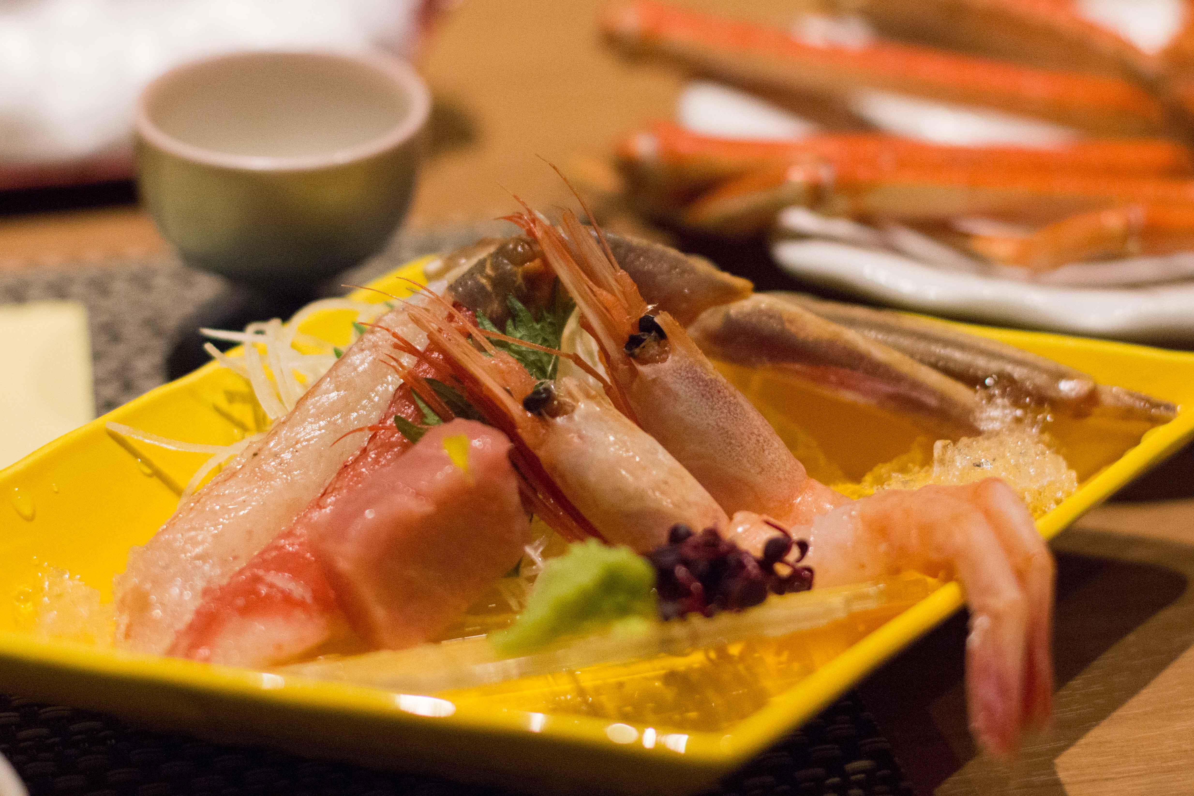 Kinosaki suishoen sashimi