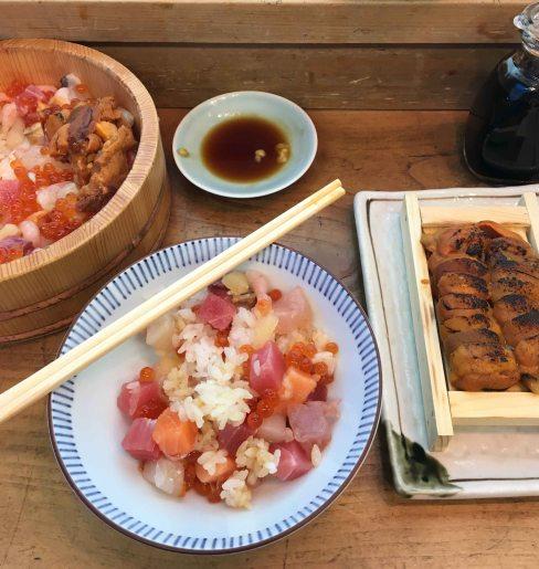 Tsukiji itadori seafood hitsumabushi