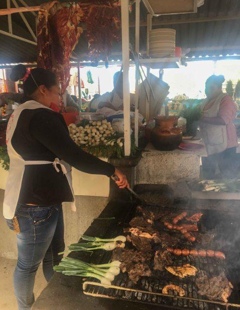 Baratillo Ocotlan Oaxaca grill