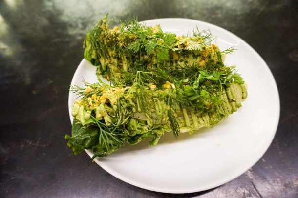 Wildair NYC lettuce pistachio
