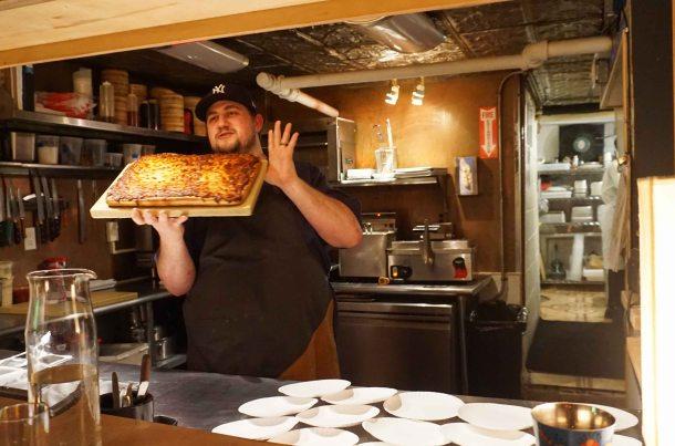 Tokyo Record Bar pizza