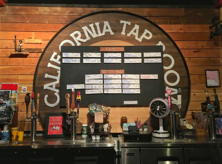 California Tap room beer