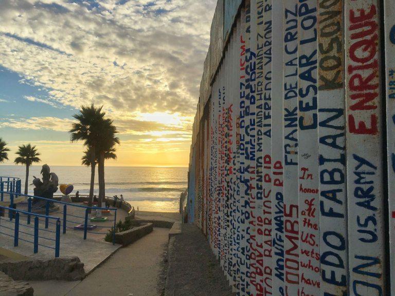 Tijuana beach border