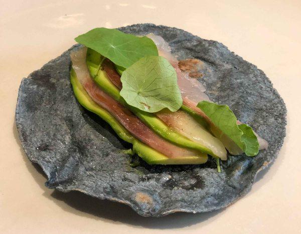 Pujol taco omakase amberjack avocado