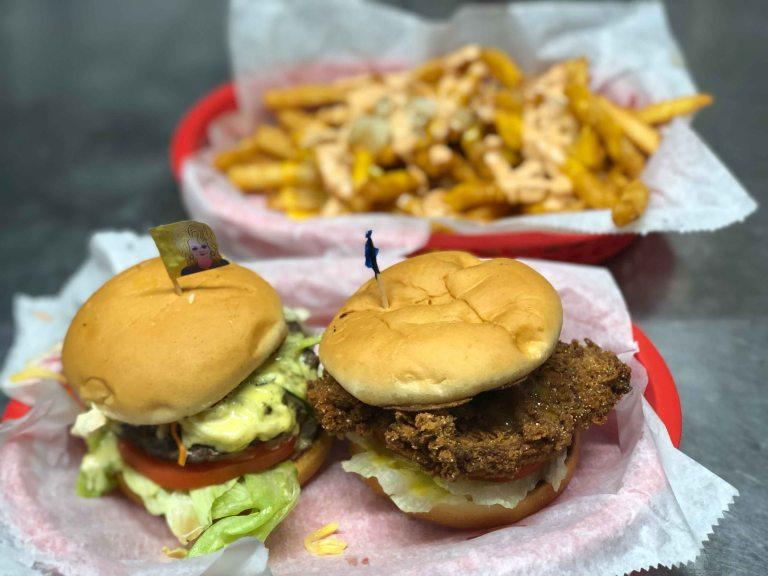 Dinos Nashville burger fries